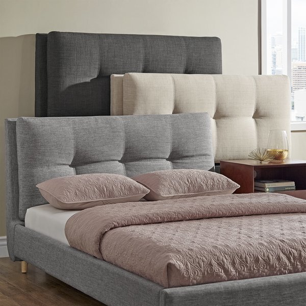Shop Dallan Plush Tufted Padded Headboard Bed by iNSPIRE Q Modern
