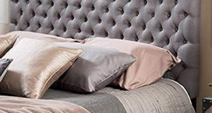 Amazon.com - Grey Tufted Headboard Full Size/Queen Button Nailed
