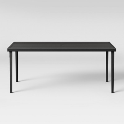 Fairmont Steel Patio Dining Table Black - Threshold™ : Target
