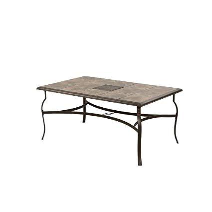 Amazon.com : Belleville Rectangular Patio Dining Table : Garden