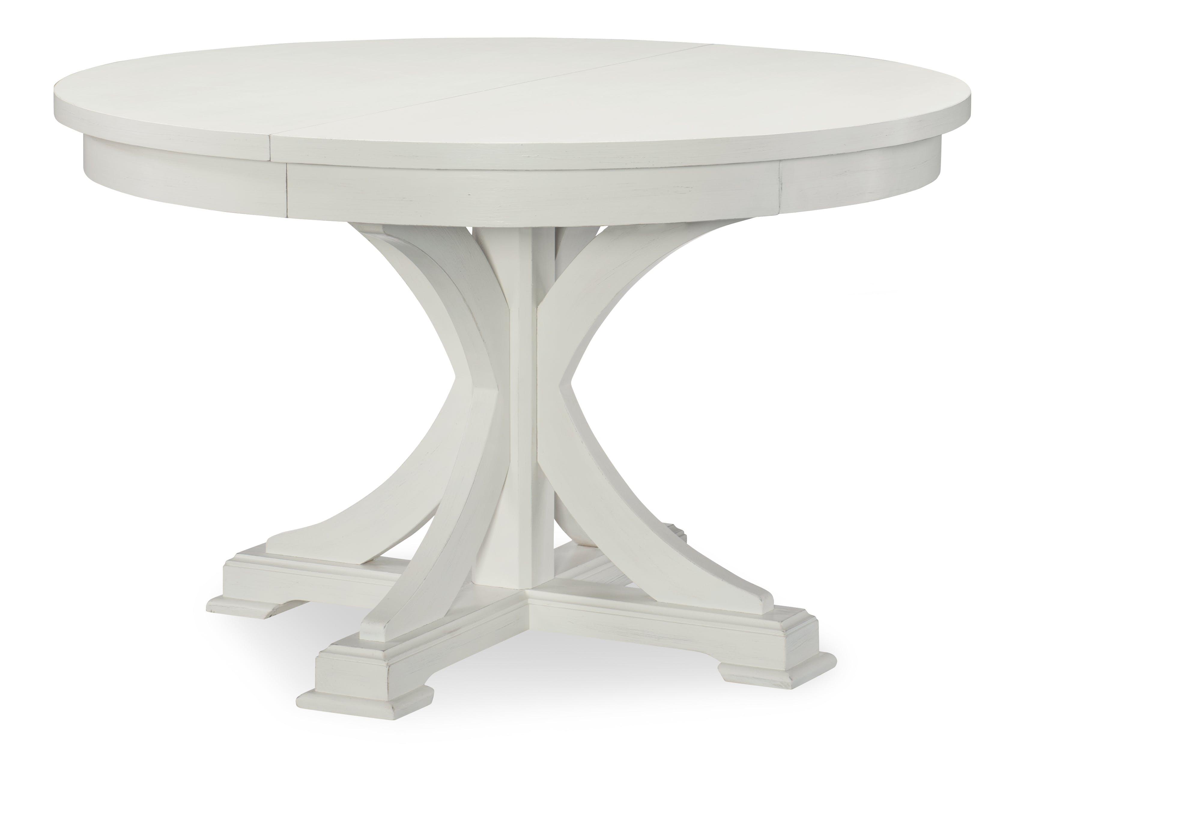 Round to Oval Pedestal Table - Sea Salt QL7004521K