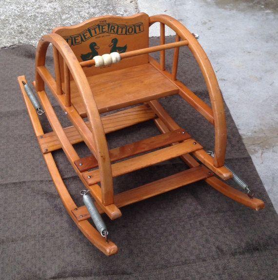 TeeterTot Vintage Child's Bouncy Chair. Pristine by Acorntiques