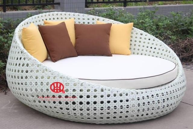 outdoor garden furniture leisure rattan round sunbed ,rattan outdoor