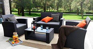 Amazon.com: Baner Garden (N87) 4 Pieces Outdoor Furniture Complete