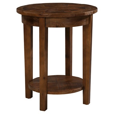 Round End Table Reclaimed Wood Natural - Alaterre Furniture® : Target