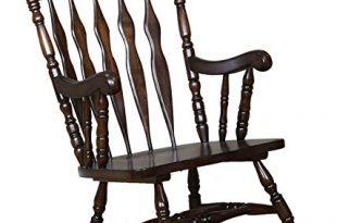 Amazon.com: Windsor Rocking Chair Medium Brown: Kitchen & Dining