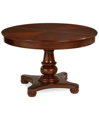 Furniture Bordeaux Pedestal Round Expandable Dining Table & Reviews