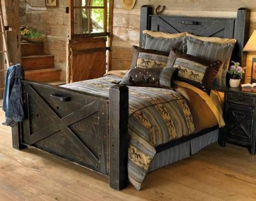 rustic bedroom sets for cheap | home- | headboard ideas | Rustic