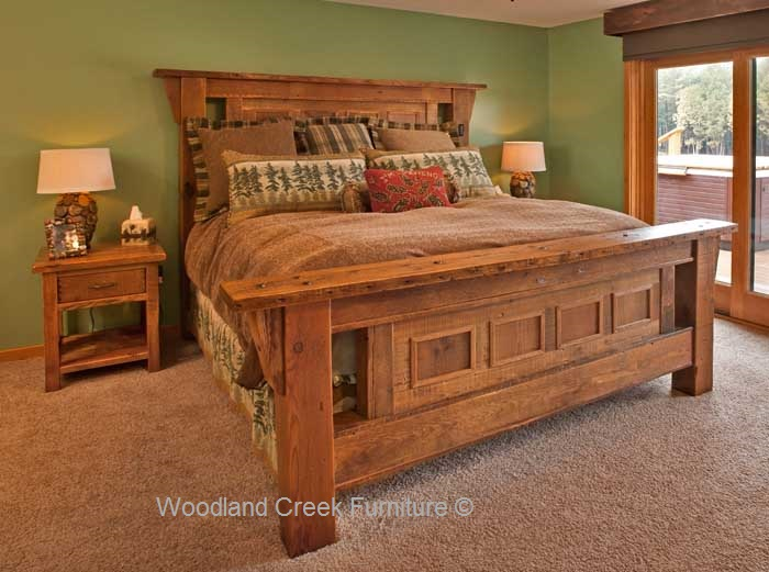 Barnwood Bedroom Furniture, Reclaimed Wood, Elegant Rustic