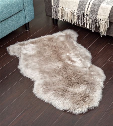 Stone color Sheepskin Rug | NZ LongWool Shearling Rugs
