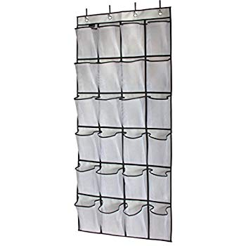 Amazon.com: MISSLO Over The Door Shoe Organizer 24 Large Mesh