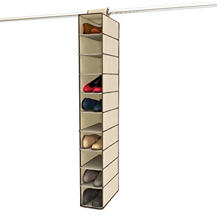 Amazon.com: Ziz Home Hanging Shoe Organizer for Closet, 10 Shelf