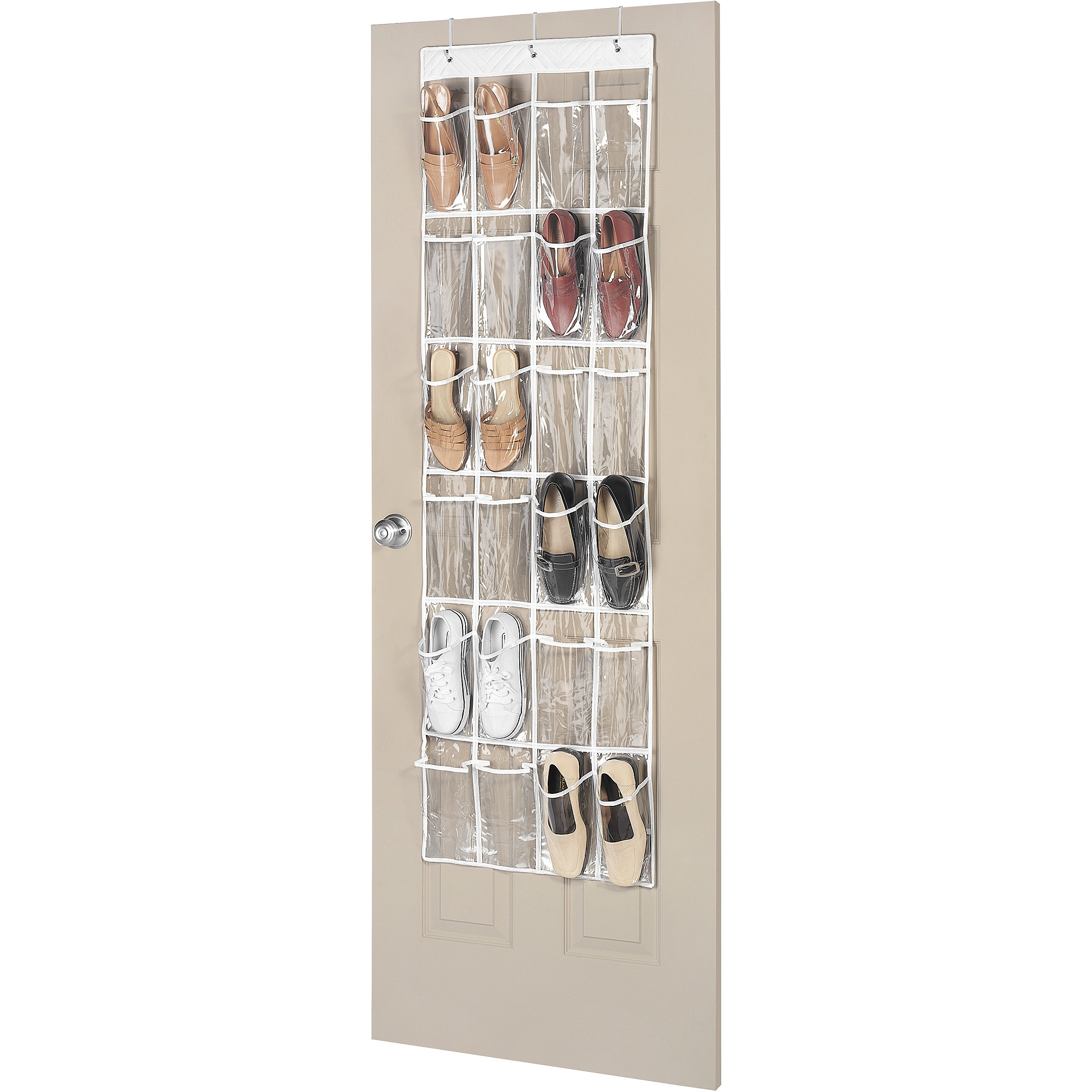 Whitmor 24 Pocket Over the Door Shoe Organizer - Clear - Walmart.com