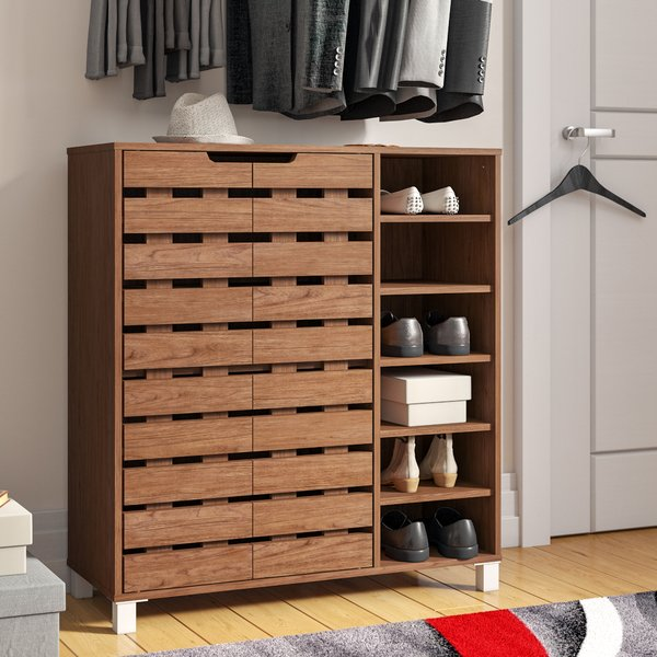 Zipcode Design 18-Pair Shoe Storage Cabinet & Reviews | Wayfair