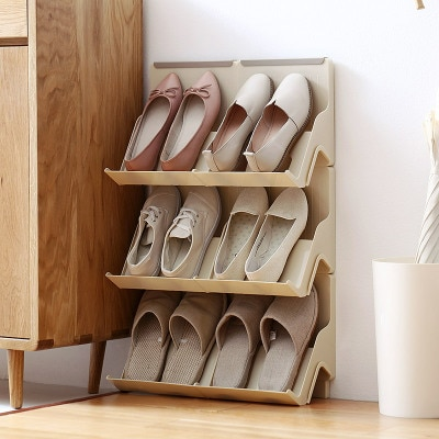 MoeTron Creative Shoe Rack Storage DIY Plastic Shoe Shelves Space