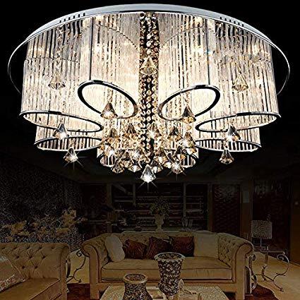 LEDVAS Modern Luxury Living Room Ceiling Lamp Fixture Crystal