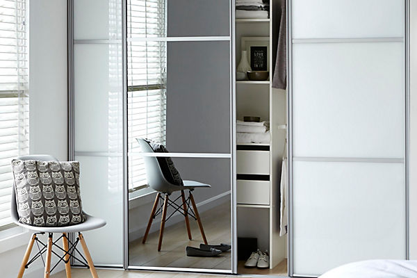 S Thin Wardrobe Sliding Doors Simple White Sliding Door Wardrobe