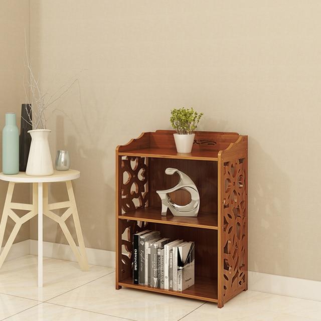 Bookcase Nordic Japanese Simple Bamboo Bookshelf Small Bookcase