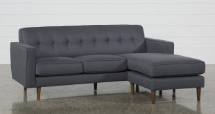 London Dark Grey Reversible Sofa Chaise | Living Spaces