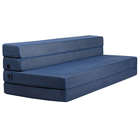 Amazon.com: Milliard Tri-Fold Foam Folding Mattress and Sofa Bed for