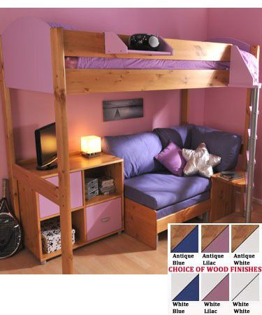 Stompa Casa 8 Loft Bed with Sofa Bed & Cupboard - £912.00 | Pretty