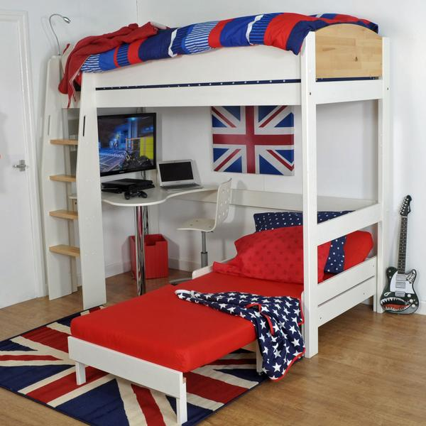 High Sleeper Loft Beds with Sofabed Futon, Sofa, Desk & Storage