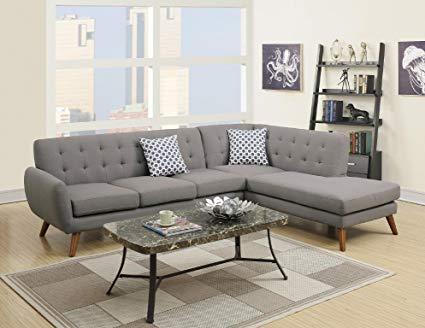 Amazon.com: Modern Retro Sectional Sofa (Gray): Kitchen & Dining