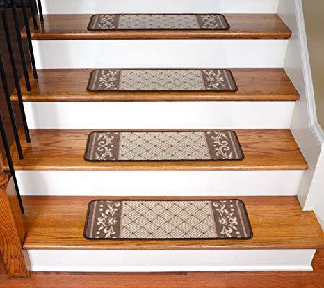 Amazon.com: Carpet Stair Treads - Caramel Scroll Border: Everything Else