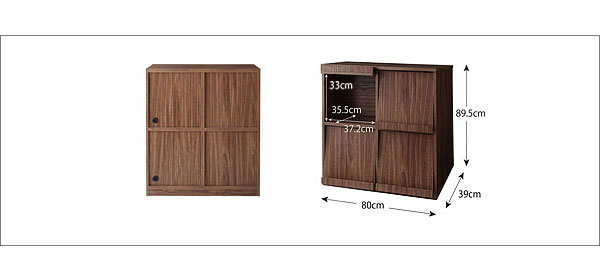 KOREDA: Flap chest / storage furniture simple and modern living room