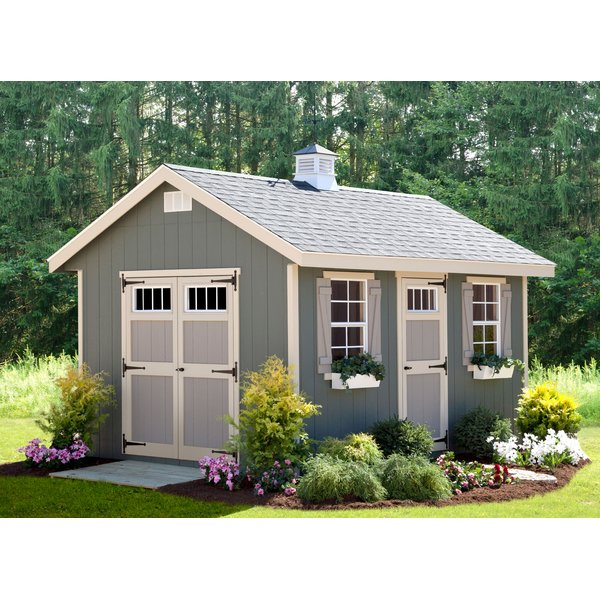 Alpine Structures Riverside 10 ft. W x 14 ft. D Wooden Storage Shed