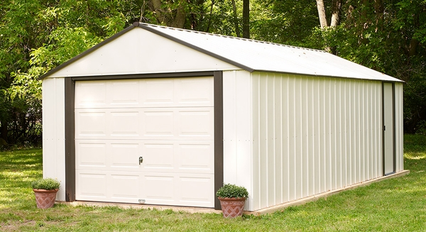 Arrow Murryhill 12 x 24 Storage Shed with Roll-up Garage Door
