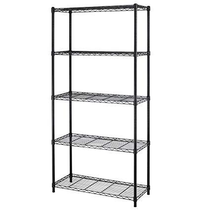 Amazon.com: 5-shelf Home-style Black Steel Wire Shelving 36 By 14 By