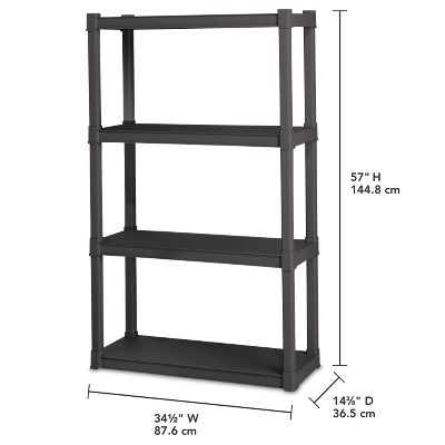 Sterilite® 4-Shelf Storage Unit - Gray : Target