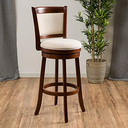 Amazon.com: Great Deal Furniture | Davis | Fabric Swivel Bar Stool