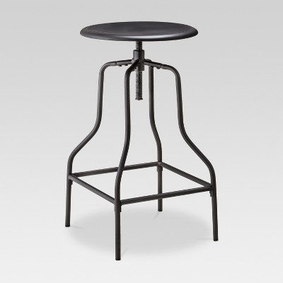 Industrial Swivel Barstool - Black - Threshold™ : Target