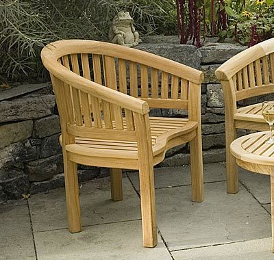 Conchal Teak Garden Armchair - Teak Outdoor Furniture by Reforest Teak