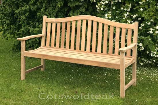 Wasdale 3 seater teak garden bench
