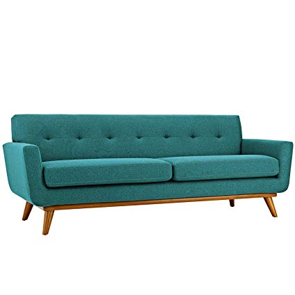 Amazon.com: Engage Upholstered Sofa in Teal: Kitchen & Dining
