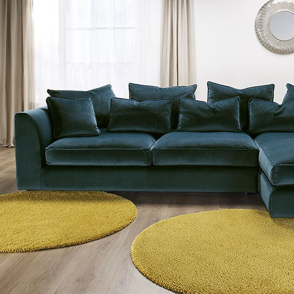 Harrington Large Chaise Velvet Sofa, RHF - Barker & Stonehouse in