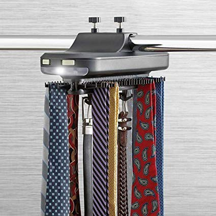 Amazon.com: Ampersand Revolving Illuminating Belt and Tie Rack: Home
