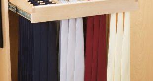 Rev-A-Shelf 24 inch Tie Rack-Wood CWTR-241041-2 | CabinetParts.com