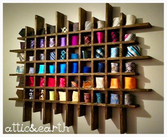 Handmade tie rack | Etsy