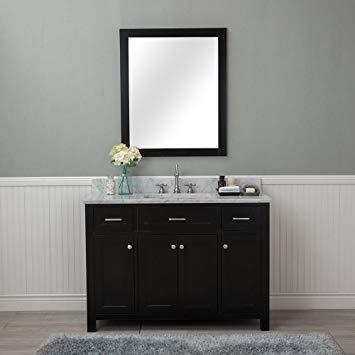 Norwalk 48 in. Single Bathroom Vanity in Espresso with Carrera