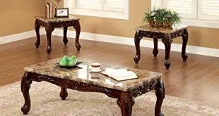 Amazon.com: Furniture of America Beltran 3-Piece Traditional Faux