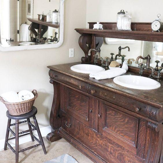 25 Unique Bathroom Vanities Made From Furniture - Life on Kaydeross