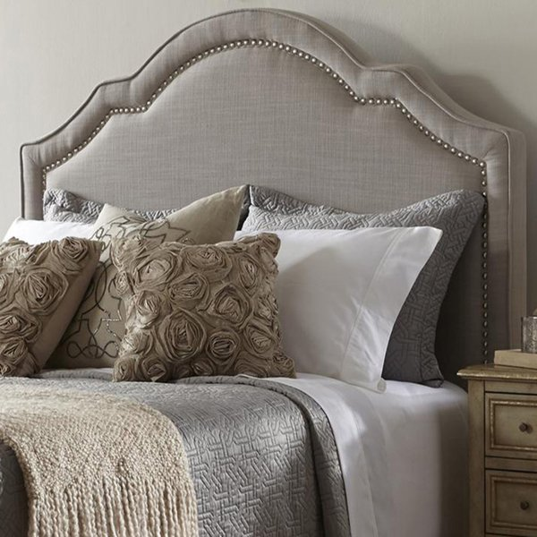 Shop Elegant Taupe Queen Size Upholstered Headboard - On Sale - Free