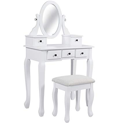 Amazon.com: Best Choice Products Bedroom Vanity Hair Dressing Table