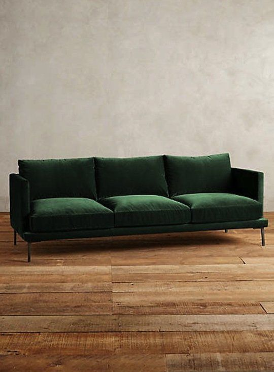 The Hunt for a Non-Velvet Green Sofa | Shopping Guides | Green sofa