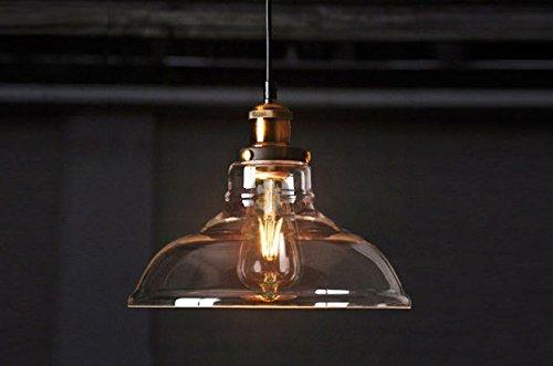 FAB FEVEN VINTAGE LIGHTING INDUSTRIAL STYLE EDISON 1 LIGHT GLASS
