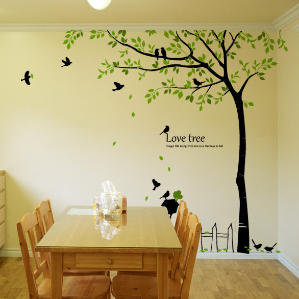 Birds & Love Tree Wall Decals for Kids Rooms